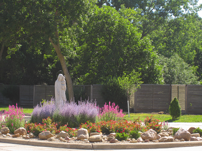 Image of Our Lady of Mount Carmel rock garden